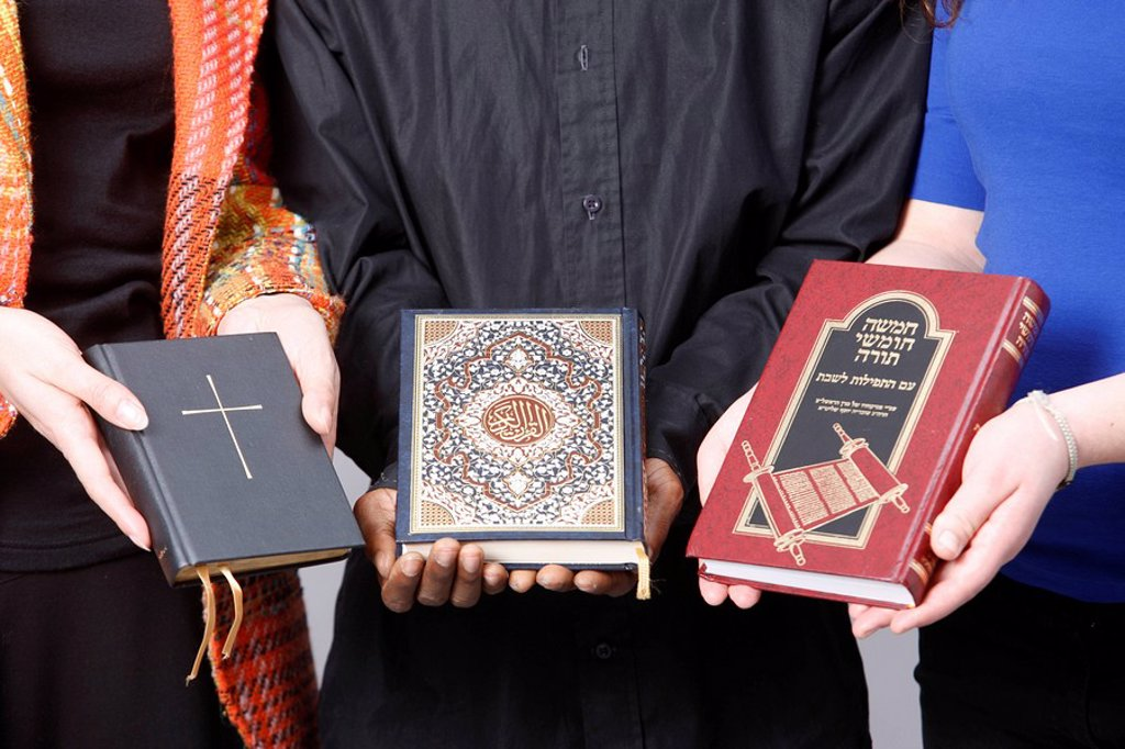 Stock Photo: 1890-108512 Bible, Koran and Torah, Paris, France, Europe