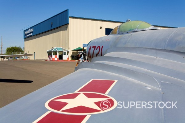 Mig_17PF Frescoe at the Aerospace Museum of California, Sacramento, California, United States of America, North America : Stock Photo