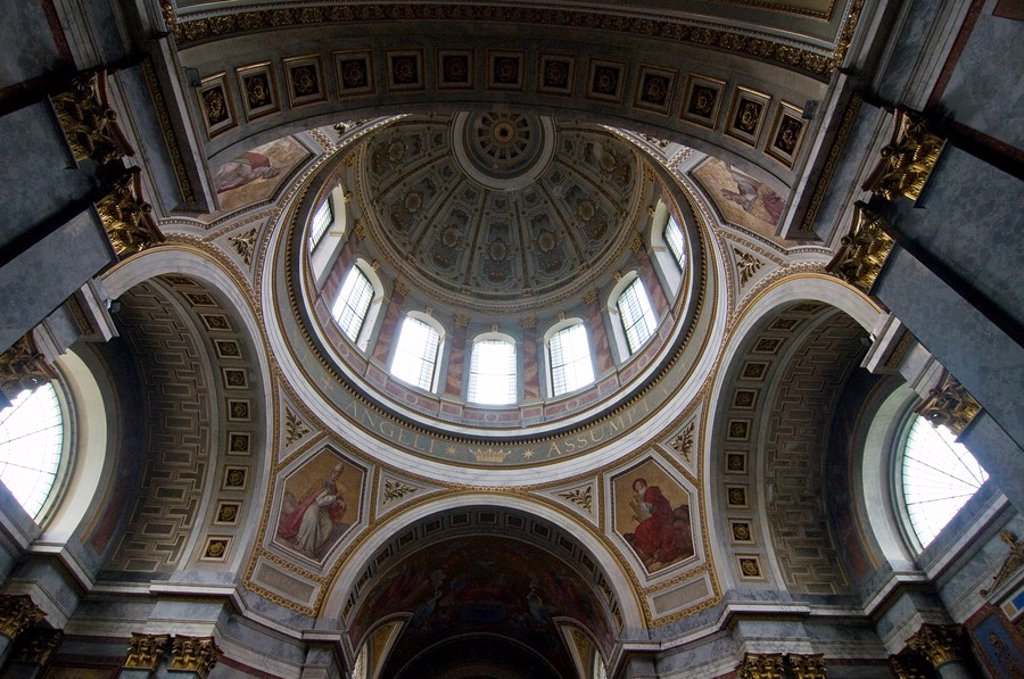 Stock Photo: 1890-109159 Interior of the Cathedral, Esztergom, Hungary, Europe