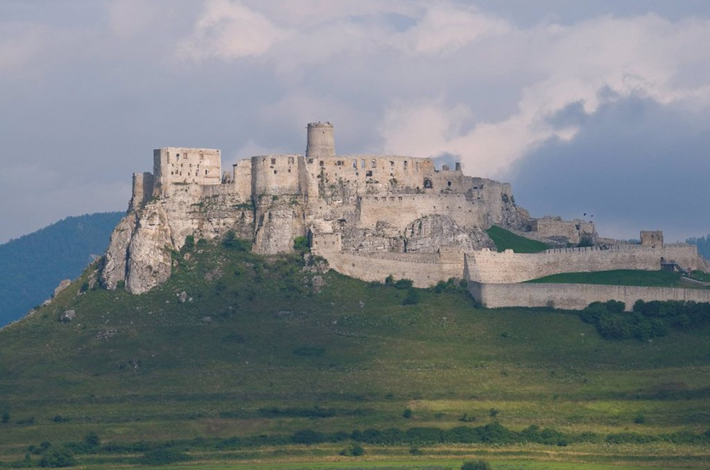 Spis Castle, UNESCO World Heritage Site, Spisske Podhradie, Slovakia, Europe : Stock Photo