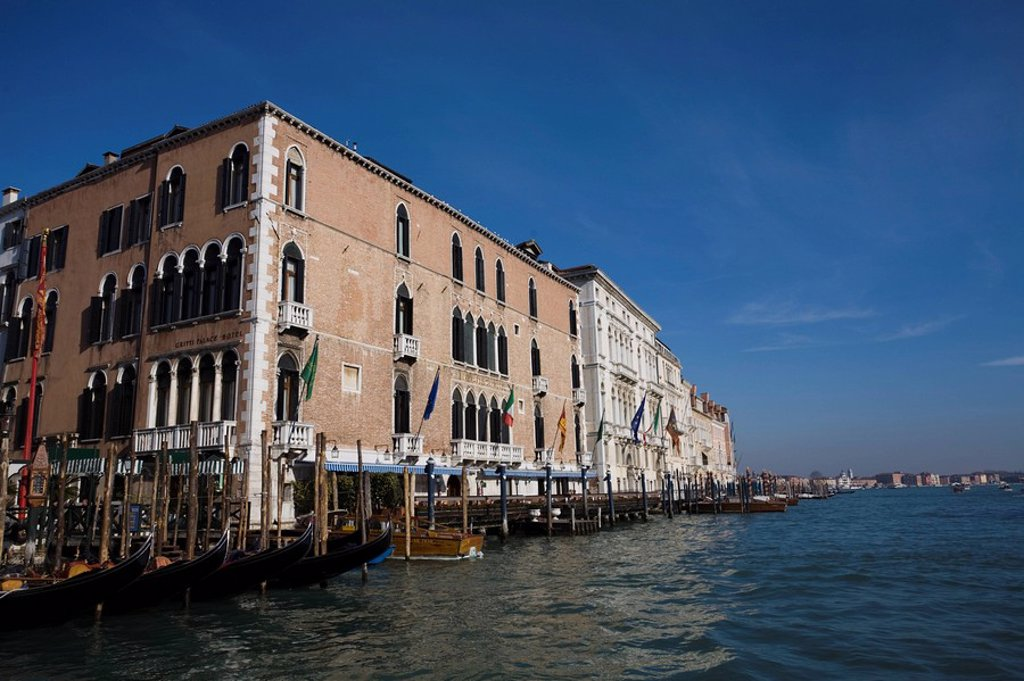 Stock Photo: 1890-109249 Hotel Gritti Palace, Grand Canal, Venice, UNESCO World Heritage Site, Veneto, Italy, Europe