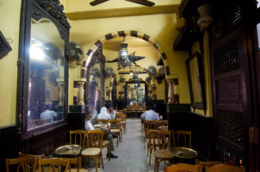 Stock Photo: 1890-109935 World famous El Fishawy coffee house, Cairo, Egypt, North Africa, Africa