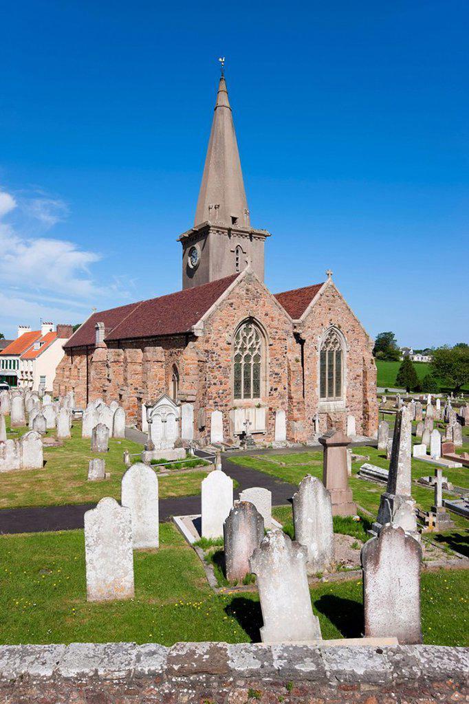 St. Martin`s Parish Church, St. Martin, Jersey, Channel Islands, United Kingdom, Europe : Stock Photo