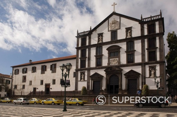 Igreja do Colegio, Praca do Municipio, Funchal, Madeira, Portugal, Europe : Stock Photo