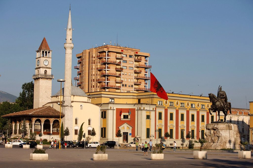 Skanderberg square, Tirana, Albania, Europe : Stock Photo