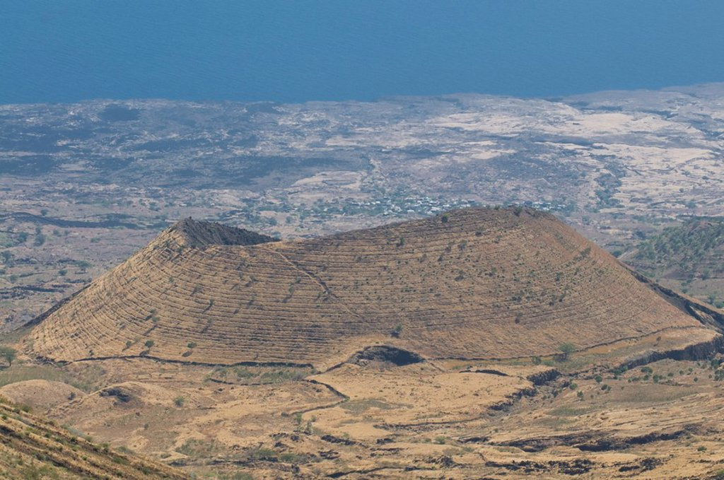 Volcanic cone on the island of Fogo, Cape Verde, Africa : Stock Photo