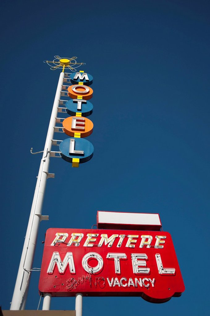 Route 66, Nob Hill, Albuquerque, New Mexico, United States of America, North America : Stock Photo