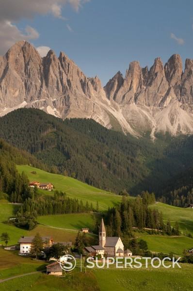 Santa Maddalena, Funes Valley Villnoss, Dolomites, Trentino Alto Adige, South Tyrol, Italy, Europe : Stock Photo