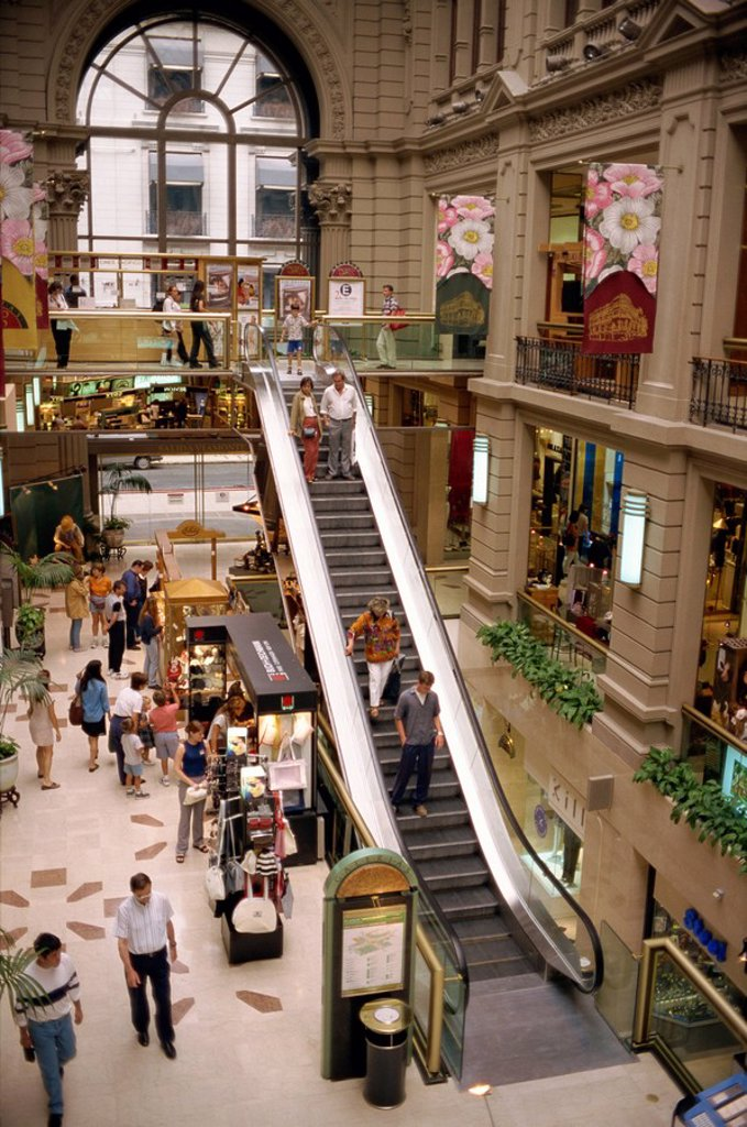 Stock Photo: 1890-11129 Interior of the Galerias Pacifico, a shopping mall, in Buenos Aires, Argentina, South America