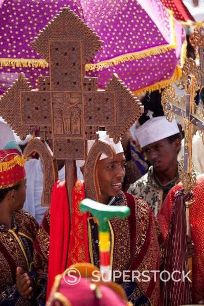 Timkat festival, Gondar, Ethiopia, Africa : Stock Photo