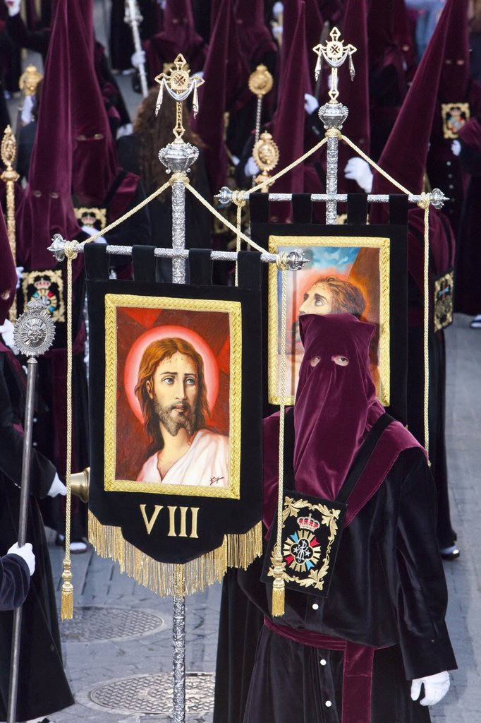 Stock Photo: 1890-111342 Semana Santa Holy Week celebrations, Malaga, Andalucia, Spain, Europe
