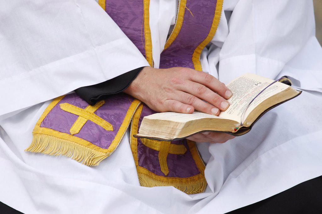 Priest´s Bible, Paris, France, Europe : Stock Photo