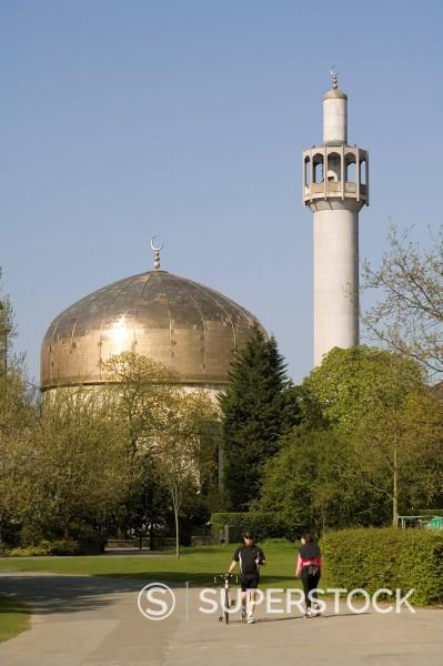 Stock Photo: 1890-112796 Central Mosque, Regents Park, London, England, United Kingdom, Europe