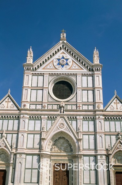 Santa Croce church, UNESCO World Heritage Site, Florence, Tuscany, Italy, Europe : Stock Photo