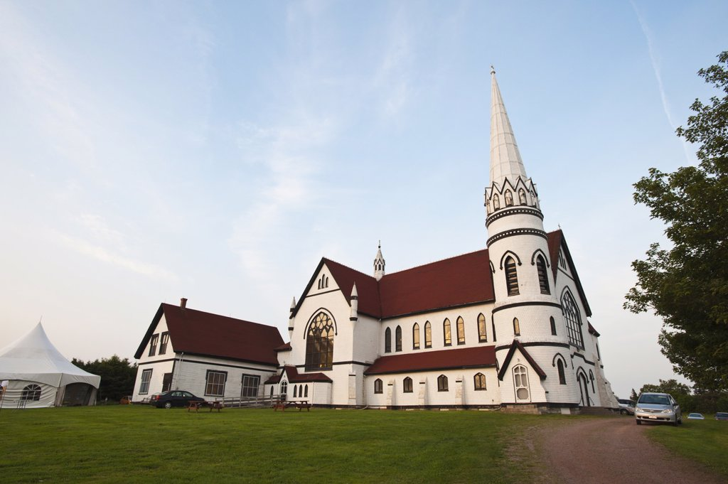 Stock Photo: 1890-113399 St. Mary´s Catholic church, Indian River, Prince Edward Island, Canada, North America