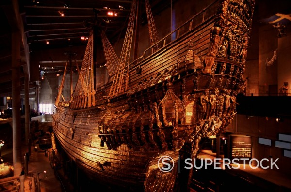 Stock Photo: 1890-113686 Vasa, a 17th century warship, Vasa Museum, Stockholm, Sweden, Scandinavia, Europe