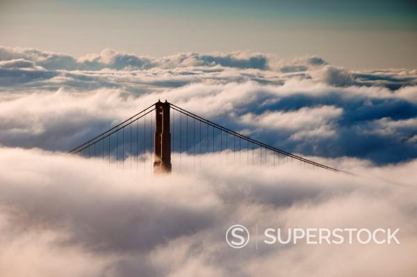 Stock Photo: 1890-113966 Golden Gate Bridge, San Francisco, California, United States of America, North America