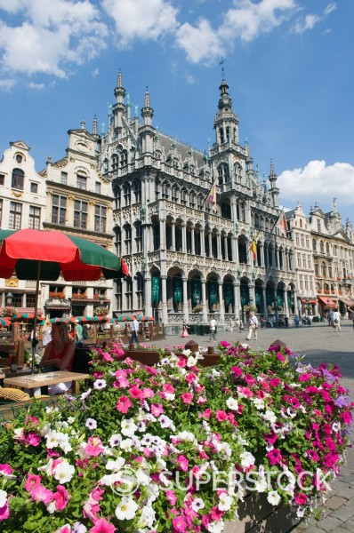 Stock Photo: 1890-114057 Guildhalls in the Grand Place, UNESCO World Heritage Site, Brussels, Belgium, Europe