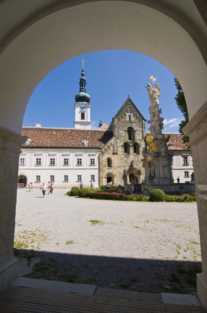 Heiligenkreuz Convent, Heiligenkreuz, Lower Austria, Austria, Europe : Stock Photo
