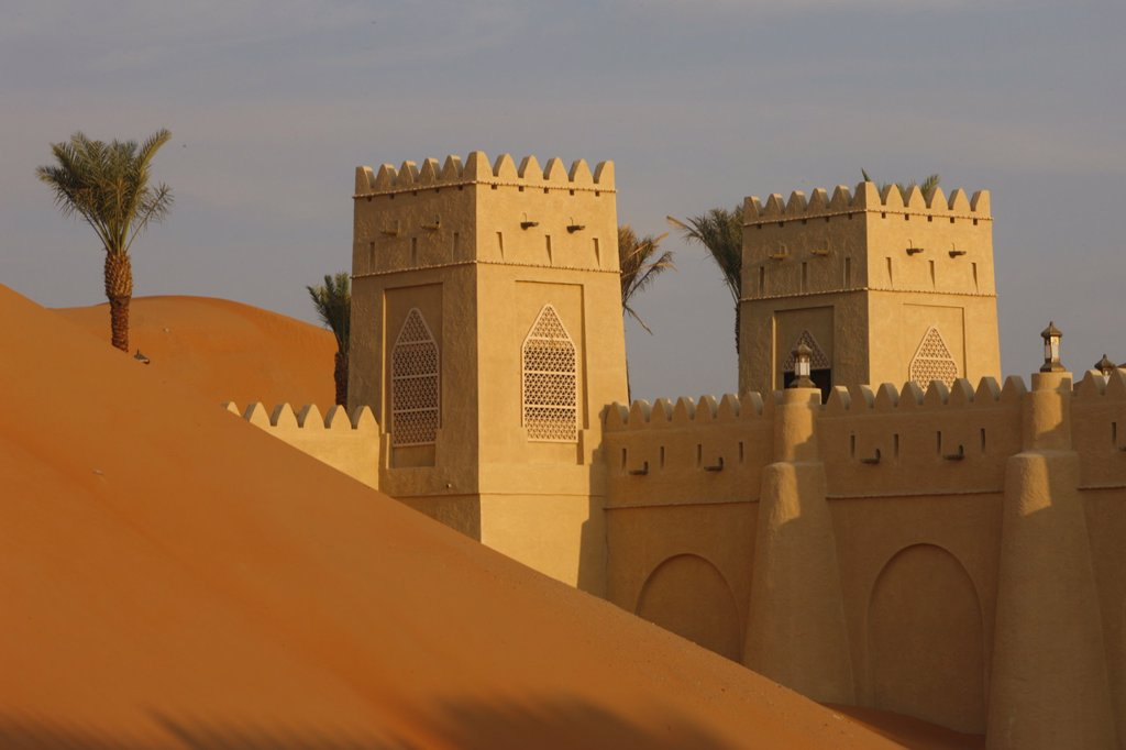 Stock Photo: 1890-114688 Qasr Al Sarab Desert Resort by Anantara, Abu Dhabi, United Arab Emirates, Middle East