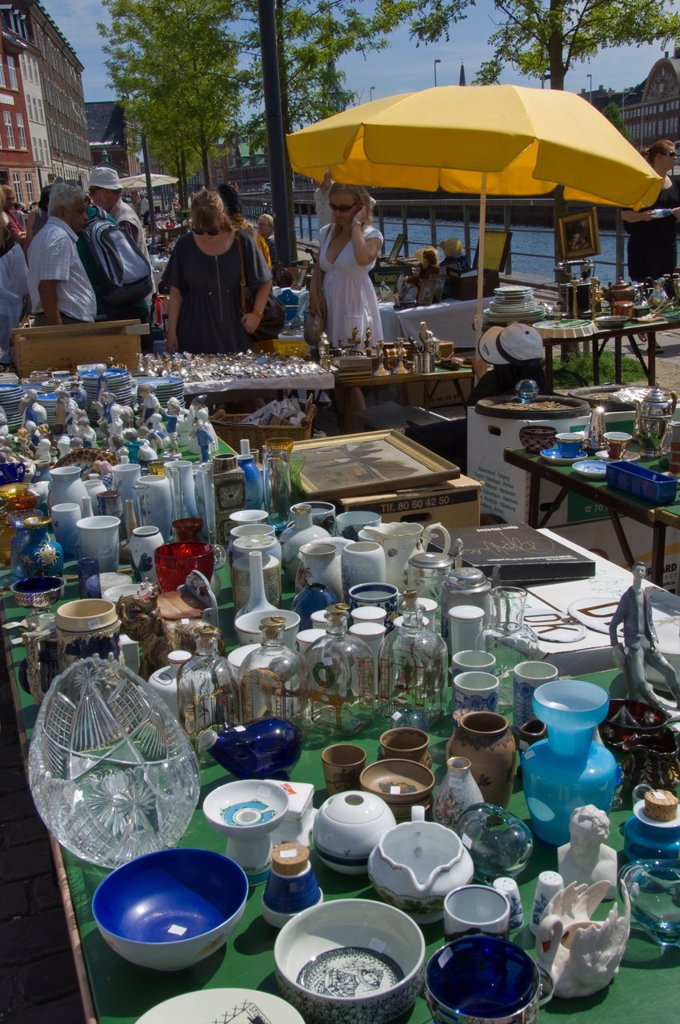 Stock Photo: 1890-114966 The Flea Market, Copenhagen, Denmark, Scandinavia, Europe