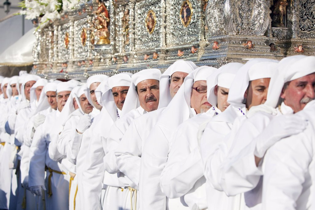 Stock Photo: 1890-115061 Semana Santa Holy Week celebrations, Malaga, Andalucia, Spain, Europe