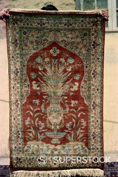 Rug for sale, Karachi, Pakistan, Asia : Stock Photo