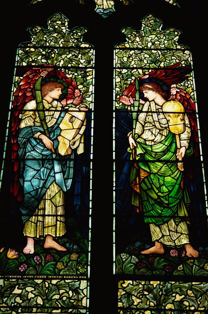 Stock Photo: 1890-11675 Burne_Jones window, Clayton, Sussex, England, United Kingdom, Europe