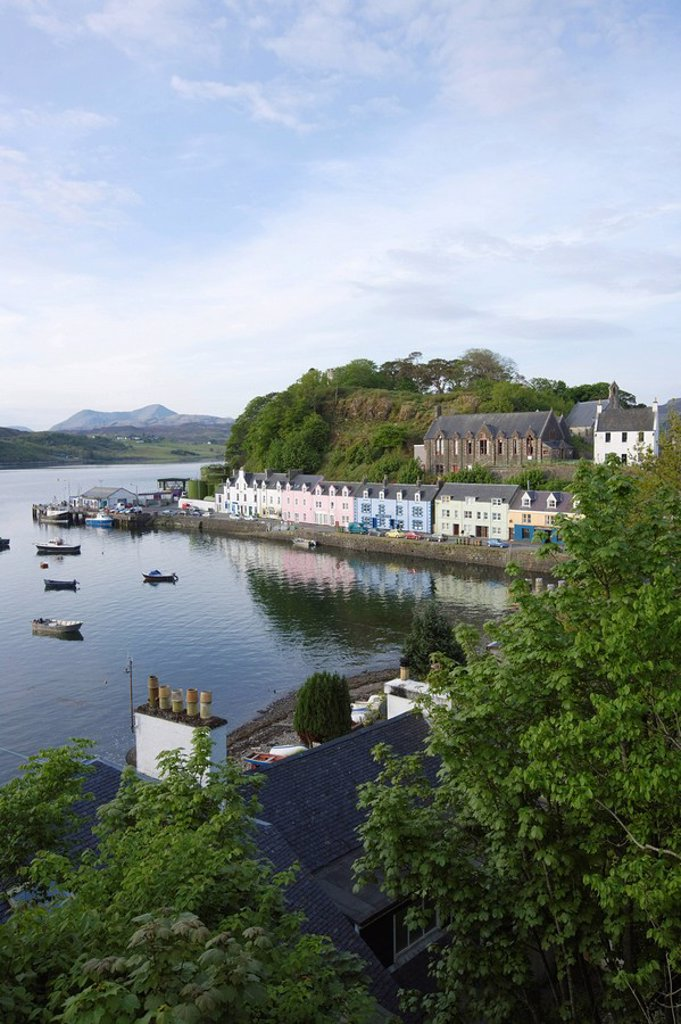 Stock Photo: 1890-116976 Portree, Skye, Scotland, United Kingdom, Europe