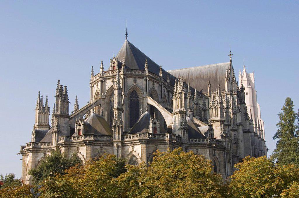 The Cathedral St._Pierre et St._Paul, Nantes, Pays de la Loire, France, Europe : Stock Photo