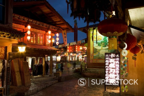 Stock Photo: 1890-117581 Shangri_La, formerly Zhongdian, on the Tibetan Border, Shangri_La region, Yunnan Province, China, Asia