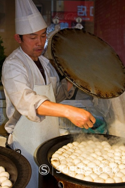 Stock Photo: 1890-117654 Dumpling cook, Shanghai, China, Asia
