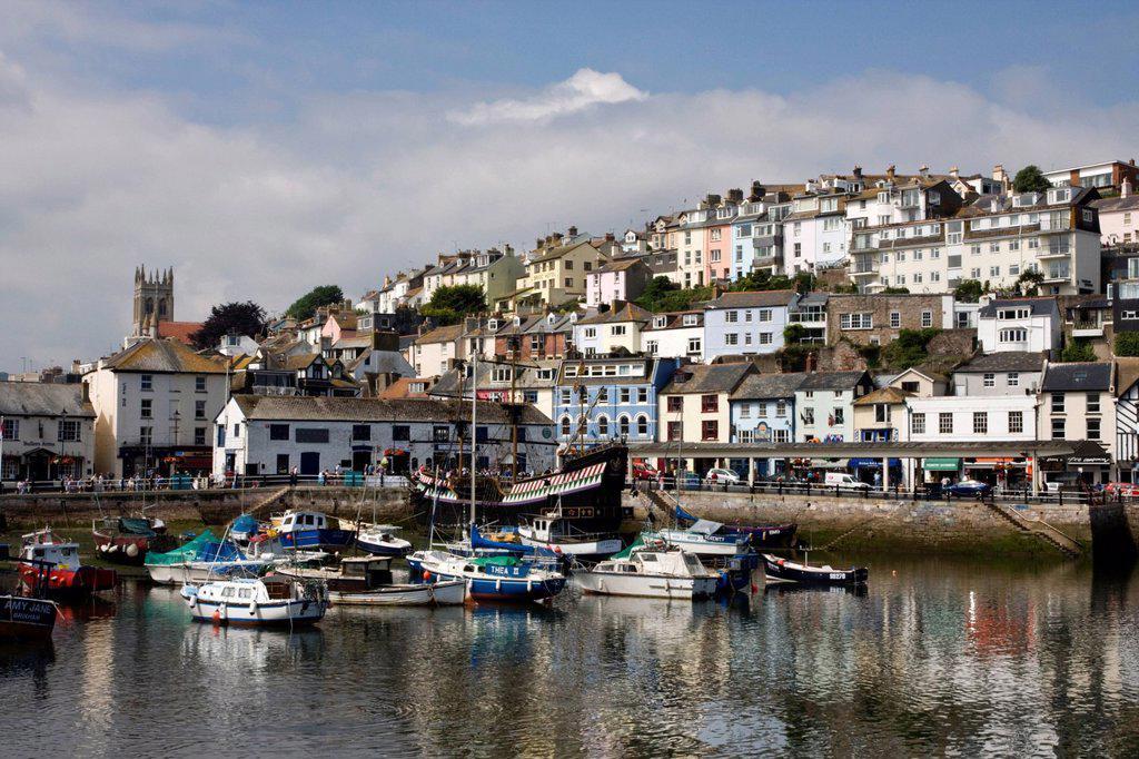 Stock Photo: 1890-118366 Brixham Harbour, South Devon, England, United Kingdom, Europe