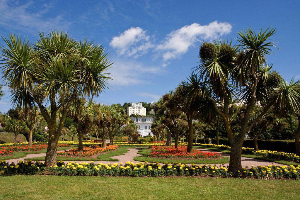 Gardens at Torquay, South Devon, England, United Kingdom, Europe : Stock Photo