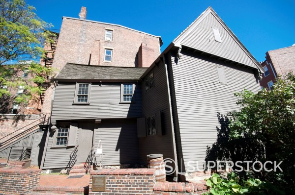 Stock Photo: 1890-118428 Paul Revere´s House, Boston, Massachusetts, New England, United States of America, North America