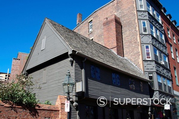 Stock Photo: 1890-118468 Paul Revere´s House, Boston, Massachusetts, New England, United States of America, North America