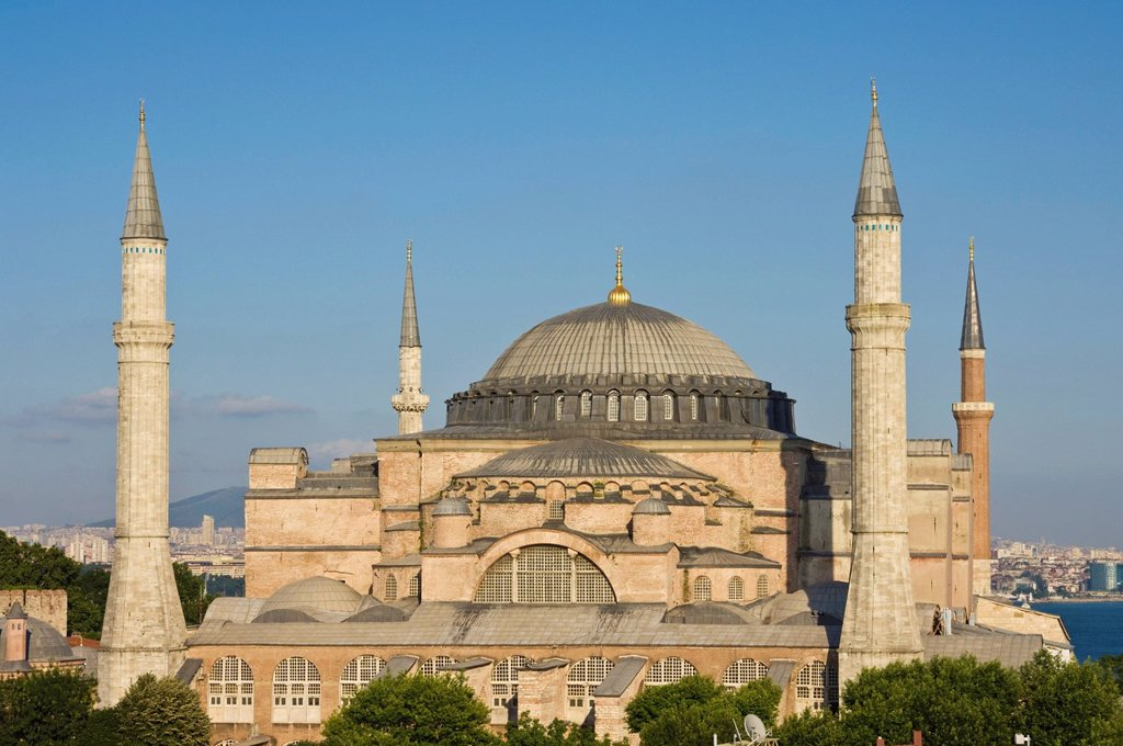 Stock Photo: 1890-118626 The Haghia Sophia Aya Sofya Church of Holy Wisdom, a Byzantine monument dating from 532AD, UNESCO World Heritage Site, Sultanahmet, Istanbul, Turkey, Europe