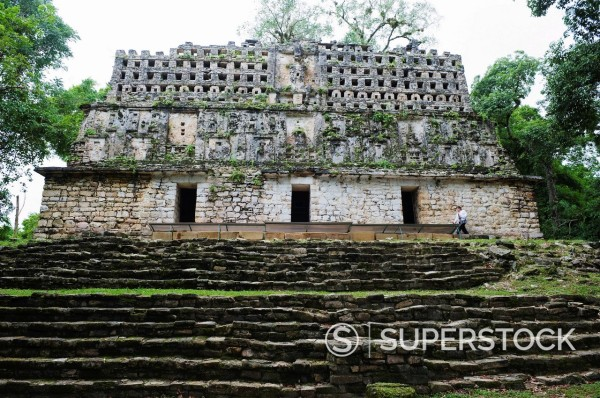 Mayan ruins, Yaxchilan, Chiapas state, Mexico, North America : Stock Photo