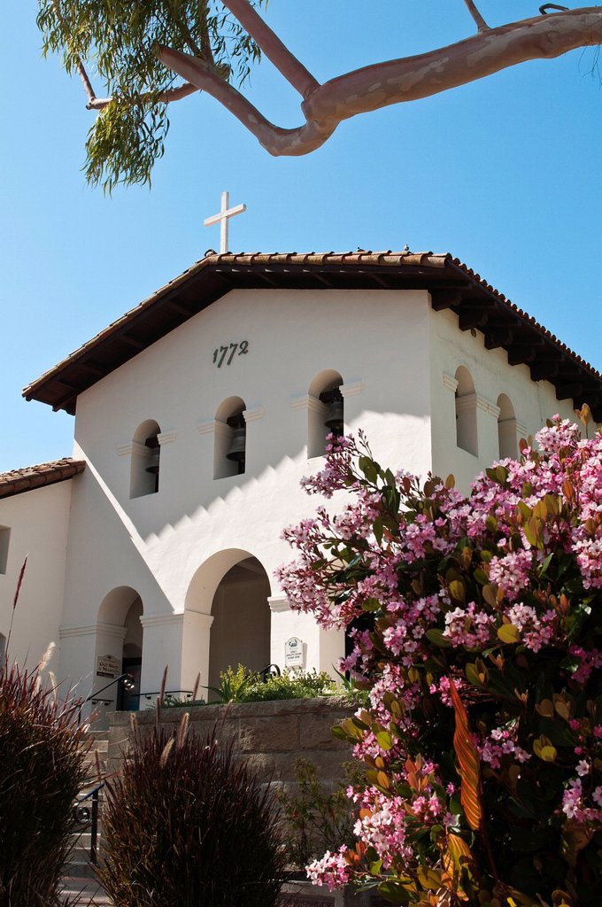 Old Mission San Luis Obispo de Tolosa, San Luis Obispo, California, United States of America, North America : Stock Photo