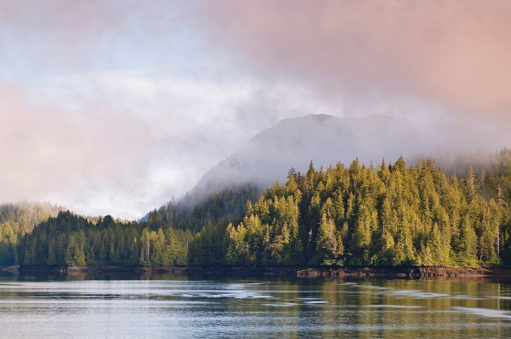 Stock Photo: 1890-120233 Yes Bay in the Cleveland Peninsula region of Southeast Alaska, Alaska, United States of America, North America