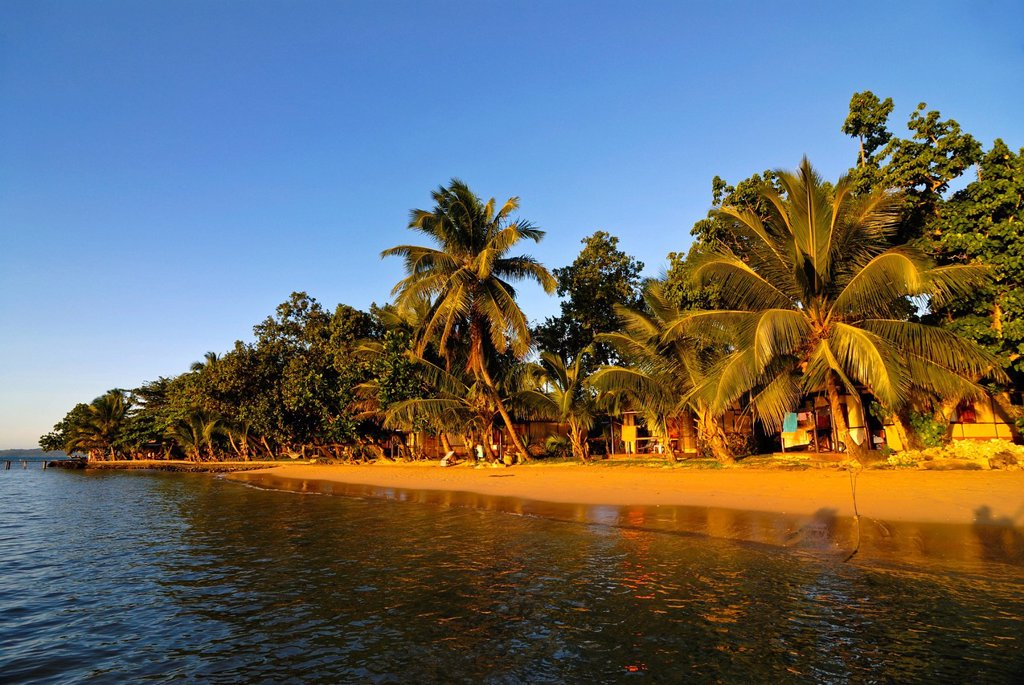 Idyllic sandy beach and clean water at Ile Sainte Marie, Madagascar, Indian Ocean, Africa : Stock Photo