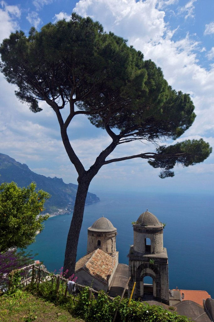 Stock Photo: 1890-122035 View from Villa Rufolo Gardens, Ravello, Amalfi, UNESCO World Heritage Site, Campania, Italy, Europe