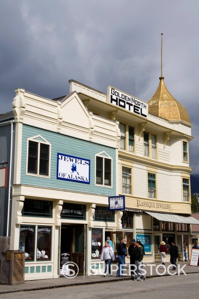 Golden North Hotel, Skagway, Southeast Alaska, United States of America, North America : Stock Photo