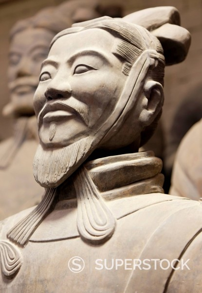 Stock Photo: 1890-125256 Close_up of Terracotta Army Warrior, Xian, Shaanxi Province, China, Asia