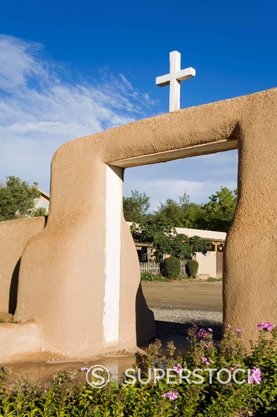 Stock Photo: 1890-127298 St. Francis de Asis Church in Ranchos de Taos, Taos, New Mexico, United States of America, North America