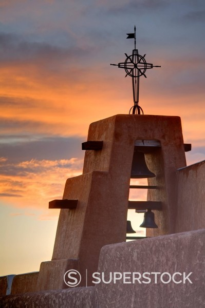Stock Photo: 1890-127303 Our Lady of Guadalupe Catholic Church, Taos, New Mexico, United States of America, North America