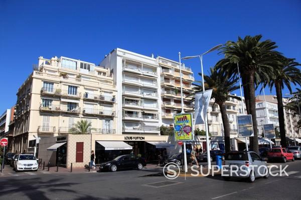 Boulevard de la Croisette, La Croisette, Cannes, Alpes Maritimes, Provence, Cote d´Azur, France, Europe : Stock Photo