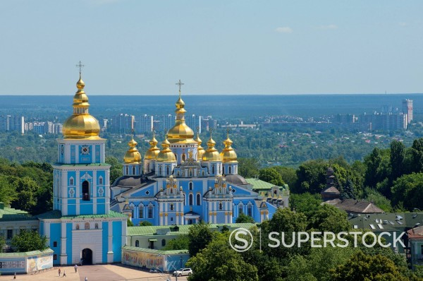 Stock Photo: 1890-128788 St. Michael´s Church, Kiev, Ukraine, Europe