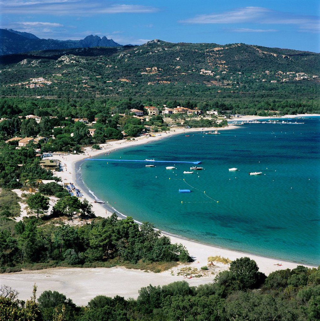 San Ciprianu beach, near Porto Vecchio, South East Corsica, Corsica, France, Mediterranean, Europe : Stock Photo