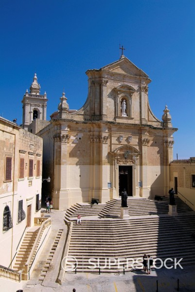 Stock Photo: 1890-129330 Cathedral, Victoria, Gozo, Malta, Mediterranean, Europe